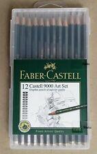 12 Faber Castell 9000 Art Set Pencils in Plastic Casing