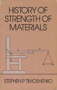 History of Strength of Materials by Stephen P. Timoshenko