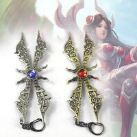 Irelia League of Legends LOL Weapon Metal Keychain Keyring Key Pendant 14.5 cm