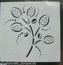 STENCIL - NATURE Branches of Leaves 180 x 175mm - C86 Collection L1