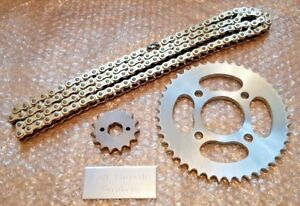 HONDA CBR 125 R / D JC50A 2013-2014  HEAVY DUTY GOLD CHAIN AND SPROCKETS KIT
