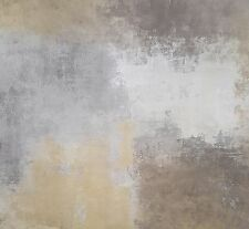 Wallpaper Designer Abstract Tan Gray Taupe Yellow Brown Faux