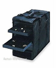 Jewelry Display Case Carrying 12 Trays 12  Black Velvet Pads Inserts U-Pins