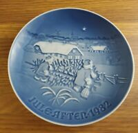 1982 Bing & Grondahl B&G The Christmas Tree plate 7 inch plate Denmark #9082