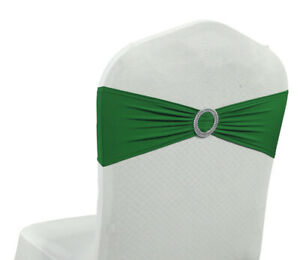 25/50/100/150/200 - Spandex Chair Sashes Bow Stretch Lycra Band New - FREE SHIP
