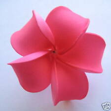 Hawaiian Hawaii Bridal Wedding Party Favor Flower Plumeria QTY ( 2 ) Hair Clips