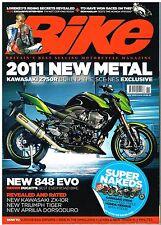 Bike Nov 2010 Kawasaki Z750R Ducati 848 Evo ZX10 Yamaha FJ1200 VFR1200 CBR1000F