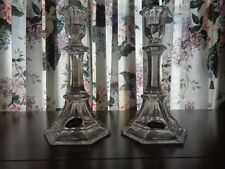 """St. GeorgeToscany Classic 8"""" Crystal Candlestick Set of 2 24% Fine Lead Crystal"""