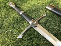 LOTR ARAGORN SWORD Medieval Knight Warrior's Lord of the Rings Sword w/Scab