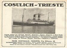 Y2538 Cosulich - Trieste - Pubblicità del 1922 - Old advertising