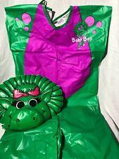 Vtg 1992 Old Style Plastic Barney Baby Bop Dinosaur Costume Lyons Group USA