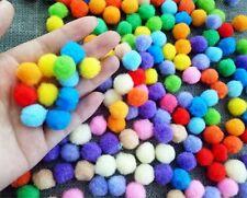 300Pcs DIY Pom-Pom Soft Fluffy Balls Felt Card Embellishments Kids Pompoms