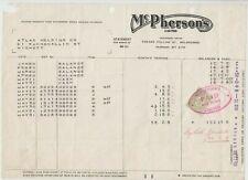 "Stamp Duty Victoria 3d green on McPherson's Ltd Melbourne 1960 receipt ""PAID"""