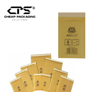 CPS Genuine Jiffy Gold Bubble Padded Mailers Courier Bags - All Size - 100 Pcs