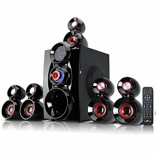 BeFree Sound Bluetooth 5.1 Ch Home Theater Speaker System FM Radio USB/SD Remote