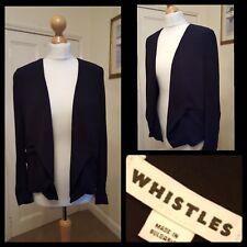 Whistles Black Bolero Jacket Drape Front Size 10
