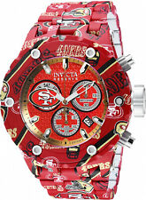Invicta Men NFL San Francisco 49ers Aqua Plating Stainless Steel Watch 35192