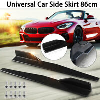 74.5CM Black Side Skirt Extension Blades Rocker Splitter For BMW Ford Audi VW
