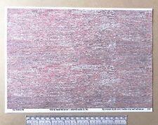 """OO/HO gauge (1:76 scale) """"Old & repaired brick"""" self adhesive vinyl - A4"""
