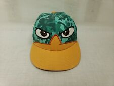 Disney Phineas And Ferb PERRY THE  PLATYPUS Cap Hat Snapback Camo
