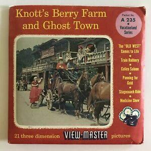 View-Master KNOTT'S BERRY FARM and GHOST TOWN A-235 - 3 Reel Set