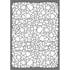 Stamperia A4 Mix Media Stencil – Crackle KSG391 New
