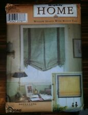 SIMPLICITY HOME WINDOW SHADES W/WOVEN TAPE PATTERN 9117