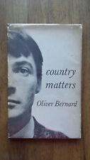 Oliver Bernard – Country Matters (1st/1st UK 1956 hb w dw) Jeffrey Soho Deakin