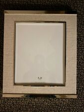 NEW Pottery Barn Silver & Linen Picture Frame 4x6 8x10 Glass Table Top Boxed NWT