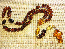 NATURAL BALTIC AMBER CATHOLIC ROSARY /NECKLACE 15gr