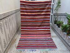 Moroccan Handmade Beni Ourain Rug Vintage Wool Rug Azilal Berber Carpet 6×4ft