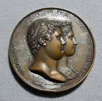 NAPOLI antica Medaglia Nozze Ferdinando II Borbone,Maria Cristina di Savoia 1832