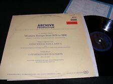 ARCHIVE DG Gatefold WESTERN EUROPE from 1650- 1800 ARNE Boyce Chamber Harpsichrd
