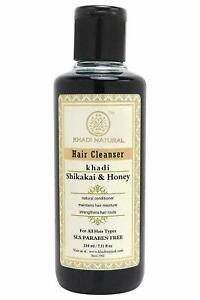 Khadi Natural Ayurvedic Shikakai Honey Hair Cleanser SLS and Paraben Free, 210ml