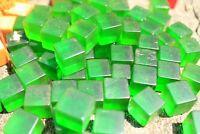 Genuine BAKELITE made  USA 1950's   green translucent 15.5mm cubes 300 grams