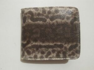 Snakeskin Leather WALLET Genuine Snakeskin Bifold Wallet
