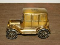 """VINTAGE 5 1/2"""" LONG INDIAN CHIEF 1926 FORD CAR METAL BANK"""