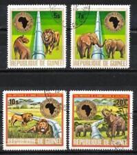 Guinée 1975 Animaux sauvages (96) Yvert n° 551 à 554 oblitéré used