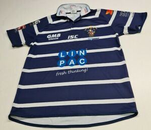 ISC Featherstone Rovers Mens Shirt, Size L, Blue, Very Good Condition AG2