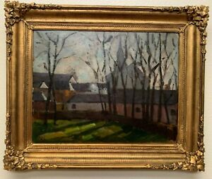 Early 20th C. Impressionist Cityscape Painting by American Artist Maria Liszt