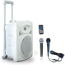 IBIZA Mobile Akku Box Sound Anlage PORT-8VHF Bluetooth USB MP3 SD Funkmikrofon
