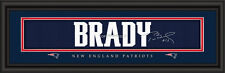 New England Patriots Tom Brady Signature Framed Print - NFL Poster Sign Man Cave