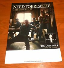 Need to Breathe The Outsiders Poster Original Tour Promo 17x12