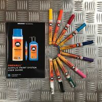 Molotow One4All 127 HS Acrylic Marker - Basic Set 1 - 10 Markers with User Guide