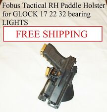 Fobus Tactical RH Paddle Holster for GLOCK 17 22 31 bearing LIGHTS