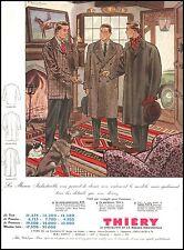 Publicité Vetement pour Homme THIERY Mode cottage men fashion vintage  ad 1954