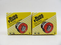 Lot of 8 Buss SL20 Fuses 20 Amp 125V Bussmann SL-20 Time Delay