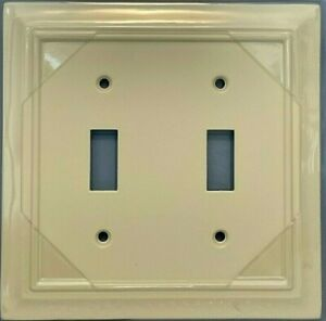Brainerd Architectural 2-Gang Toggle Switch Wall Plate - Almond - 3975040