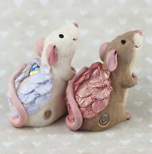 Pet Rat Figurines -Valentines Day - ANGELS by Forever Home Studios.