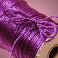 2MM Satin Rattail Cord Trim Shamballa Macrame Beading Nylon kumihimo String